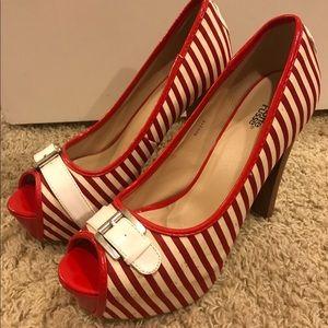 Charlotte Russe Striped Platform Heels